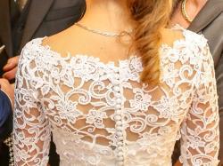 Suknia ślubna biała r.36 + tren + koronkowe bolerko + polarowa narzutka
