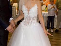 Suknia ślubna biała rozm. 36-38