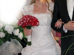 Suknia ślubna, biała, rozm. 36/38, na wzrost 170/180 cm, princessa, BUTY GRATIS!