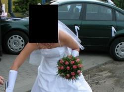 Suknia ślubna biała rozmiar 38 na wzrost 165-170cm