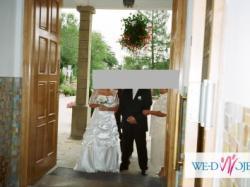 suknia ślubna biała rozmiar 40