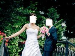 Suknia ślubna biała wyjątkowa ramiączko 34 36 38 + bolerko buty welon