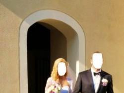 Suknia ślubna biała z tiulu