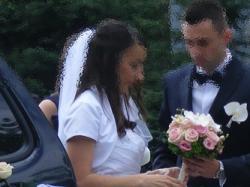 Suknia Ślubna biała ze zdobieniami