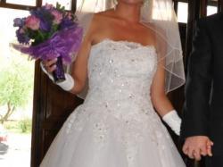 Suknia ślubna BLANKA Ms Moda roz.36/38 + dodatki gratis