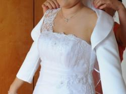 Suknia ślubna + bolerko 2014 r.
