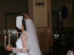 Suknia ślubna + bolerko + długi welon