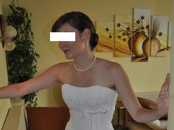 Suknia ślubna, bolerko i 2 welony