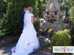 Suknia ślubna, bolerko + ozdoba na włosy GRATIS