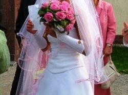 Suknia ślubna +buty, welon, rekawiczki -CAŁY KOMPLET-Niedrogo!!!!!