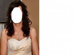 Suknia ślubna - cappucino - roz. 38-40.