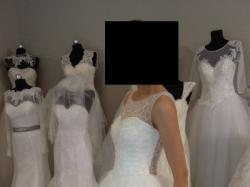 Suknia ślubna cekiny, swarovski, welon GRATIS!!!!