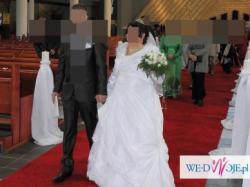 Suknia Ślubna Ciążowa+ Gratisy
