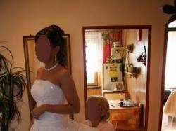 suknia ślubna classa c-406 biała z trenem
