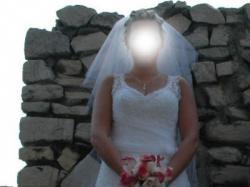 Suknia ślubna CLASSA C418, piękna -biel 38/40 DĄBROWA GÓRNICZA