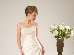 Suknia ślubna CORRINA + welon + ozodobne wsuwki