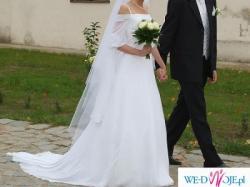 Suknia ślubna Cosmobella 7061, biała, stan idealny, Kraków