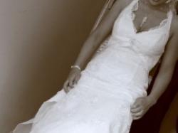 Suknia ślubna Cosmobella,biała, koronkowa  2009 rozm38-40