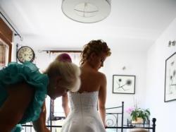 Suknia Ślubna Cosmobella/Lisa Ferrera 38 plus dodatki/ cena 1000 zł do NEGOCJACJ