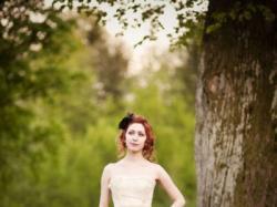 suknia ślubna Cymbeline 34/36 biały/ecru/złoty wiązanie gorsetowe