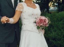 suknia ślubna - delikatny róż