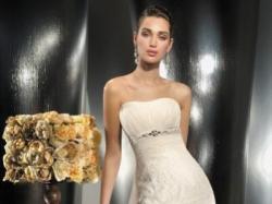Suknia ślubna Demetrios 1385 Lisa Ferrera rybka / syrena