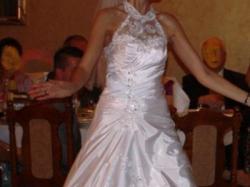 Suknia ślubna dla bardzo wysokiej osoby