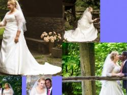 Suknia ślubna dla puszystej - OKAZJA