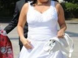 Suknia ślubna dla puszystej tanioo na wzór Lisa Ferrera 7293