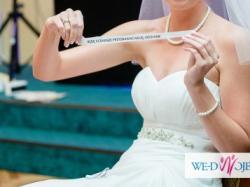 Suknia ślubna dla wysokiej + bolerko