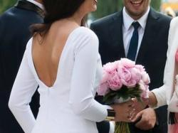 Suknia Ślubna Długi Rękaw Dopasowana
