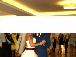 Suknia Ślubna dodatek Bordo