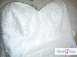 Suknia ślubna + dodatki firmy DUBER