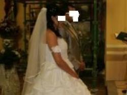 Suknia ślubna duża jak róża