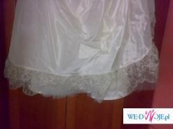 Suknia ślubna ecri z platyną