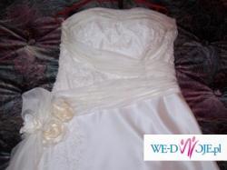 suknia ślubna ecru 36-38 500zł-tanio.Piła-Wałcz
