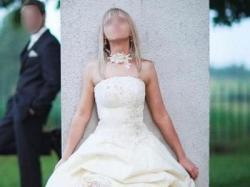 SUKNIA Ślubna ECRU 36