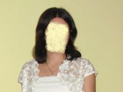 Suknia ślubna ecru 38/40 na wysoką 180 cm. TANIO!!