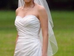 Suknia ślubna - ecru - 38