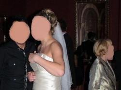 Suknia ślubna ecru, 40-42, kryształy Swarovski