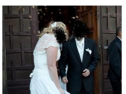 suknia ślubna, ecru, 42 z mozliowścią regulacji