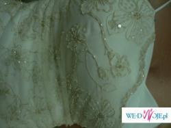 Suknia ślubna Ecru-cappuccino