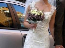 Suknia ślubna, ecru, Cymbeline, 36 (34)