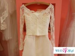 Suknia  Ślubna ecru, koronkowa, rozm. 36, z salonu  Lilea