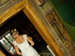 Suknia ślubna ecru, kremowa rybka, syrenka wyjątkowa!