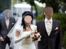 Suknia ślubna ecru MS Moda Amanda 34/36 + bogate dodatki