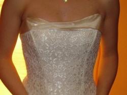 Suknia Ślubna ecru, na poprawiny, ślub cywilny, rozm. 36