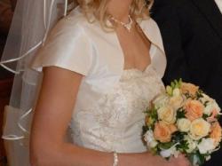 Suknia Ślubna (ecru roz. 34/36) wymarzona suknia :)