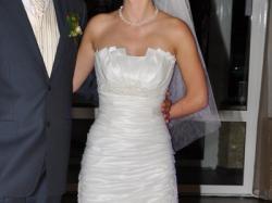 suknia ślubna ecru rozm.36