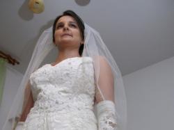 Suknia ślubna ecru, rozm.38-42, piękna!!
